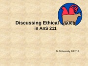 2.1 2011Defining and Discussing Ethical Issues