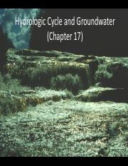 17-H2O cycle & groundwater