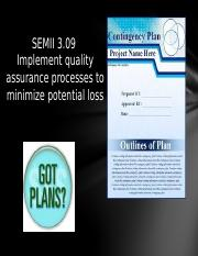 SEMII3.09 Minimize Potential Loss PPT