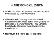 6.9 MARIE BOND (SPREADS)
