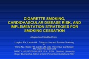 Cigarette Smoking, CVD Risk, and Cessation Strategies 1002