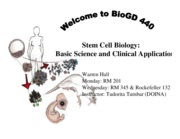 Session 01 - Welcome to BioGD 440 Stem Cell Biology