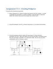C-7.1 Assignment Pedigrees.docx