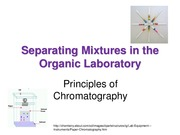 Lecture 7 Notes, TLC and Column Chromatography