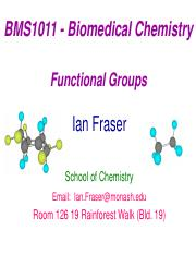 BMS1011  Lecture 3  Functional Groups 1pp