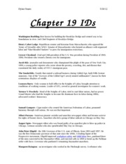 Chapter 19 IDs