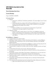 Week 4 - Reading Study Notes