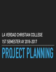 Lecture 3 - Project Planning
