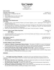 Resume example for CS 1