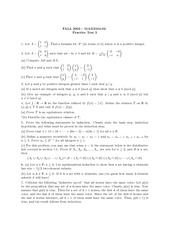 Practice Exam 3 Solution on Discrete Mathematics I