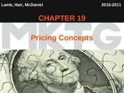 Chapter 19_Pricing Concepts