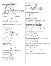 Formulas-Chapters 13 and 14