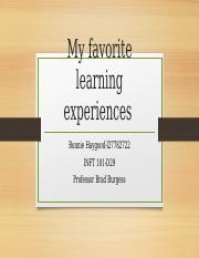 My favorite learning experiences.pptx