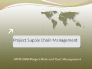 Lect#5.1 Project Supply Chain Management