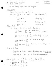 03 Strong laws of large numbers