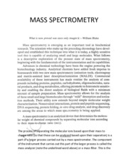 M.Sc. Instrumentation notes-Mass Spectrometry