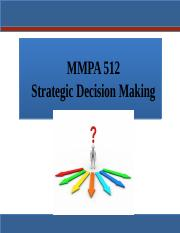 MMPA 512 Strategic Decision Making Student 2017(1)