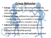 Bus160 ch8 Group Behavior