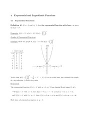 MATH 3 FAll 2011 Exponential Functions Notes