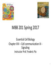 Mar 31 Lecture 28 - Cell communication III