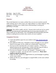 HTML Assignment Directions.docx