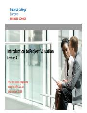 Intro to Project Valuation - Lecture 4.pdf
