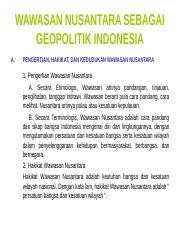 Pertemuan11 Ppt Wawasan Nusantara Sebagai Geopolitik Indonesia A Pengertian Hakikat Dan Kedudukan Wawasan Nusantara 1 Pengertian Wawasan Nusantara A Course Hero