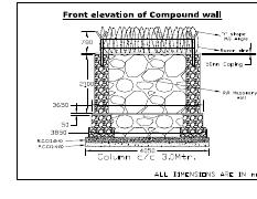 compound wall Front Elevation