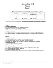 Accounting 1212 exam 3 study guide