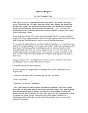 Argumentative essay harrison bergeron