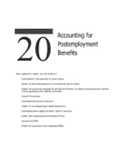 20 Acctg. for Postemployment Benefits