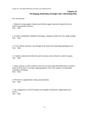 Chap002-Developing Marketing Strategies and a Marketing Plan