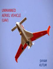 UNMANNED AERIAL VEHICLE.pptx