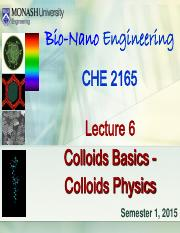 Lecture 6 - Colloid Physics (Sunway 2015)