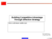 Competitive Advantage Through Strategy
