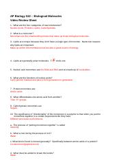 AP Bio Biological Molecules Worksheet-Brandon.docx