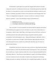 English Literature Essay Questions  Pages Wk  Existentialism Essay Persuasive Essay Papers also Essay For Science Existentialism Essay  Existentialism  Adam Crowe Existentialism  Synthesis Essay