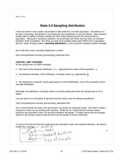 Sampling distribution notes