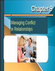 Chapter 9 - Managing Conflict in Relationships.ppt