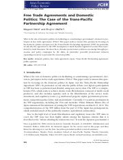 Free Trade Agreements and Domestic policies_ case of TPP.pdf
