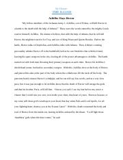 The Illiad - Final Copy Paragraphs