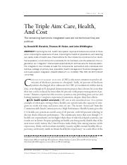 The Triple Aim of Healthcare - Berwick (002)