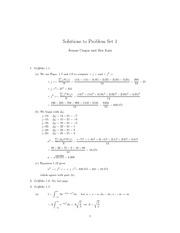 Physics 137A Homework 1 Solutions