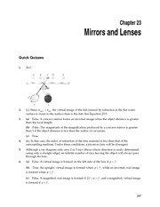 1_Ch 23 College Physics ProblemCH23 Mirrors and Lenses
