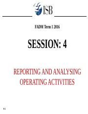 Session 4 operating activities