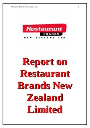 Solution - RestaurantBrand