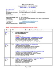 02_MBA722_90-3_2014_Spring_Schedule and Assignments