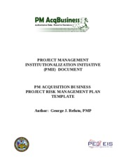 project risk mgt plan template