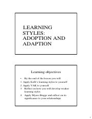 L1 - PPD Learning Styles