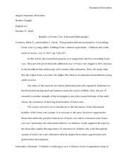 Benefits of Foster Care Annotated Bibliography (1) (2).docx